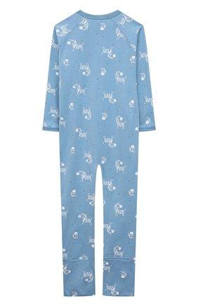 Детский хлопковый комбинезон SANETTA синего цвета, арт. 221609 | Фото 2