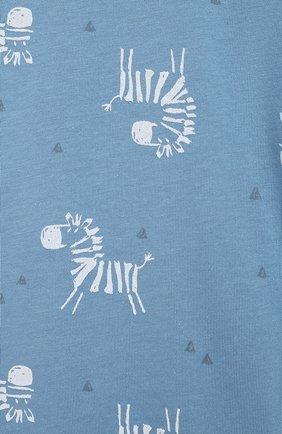 Детский хлопковый комбинезон SANETTA синего цвета, арт. 221609   Фото 3