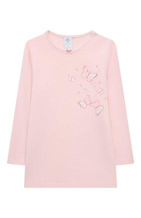 Детская хлопковая пижама SANETTA светло-розового цвета, арт. 221615 | Фото 2