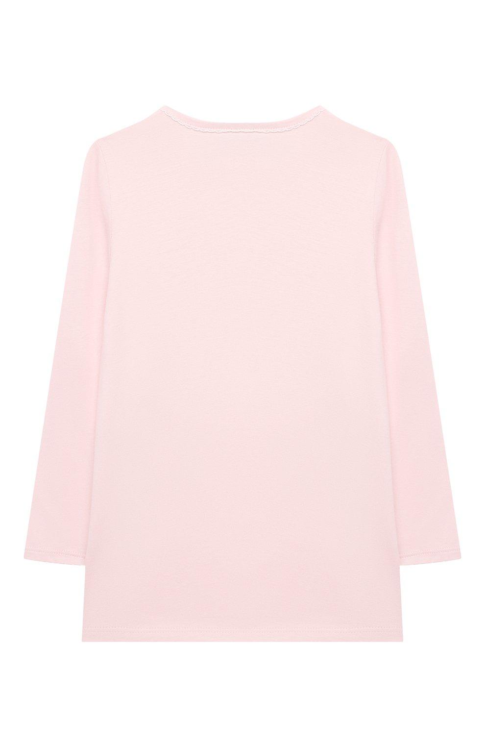 Детская хлопковая пижама SANETTA светло-розового цвета, арт. 221615 | Фото 3