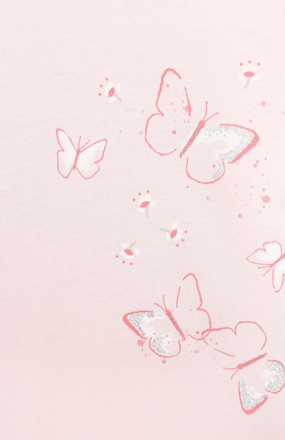 Детская хлопковая пижама SANETTA светло-розового цвета, арт. 221615 | Фото 4