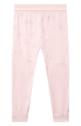 Детская хлопковая пижама SANETTA светло-розового цвета, арт. 221615 | Фото 5