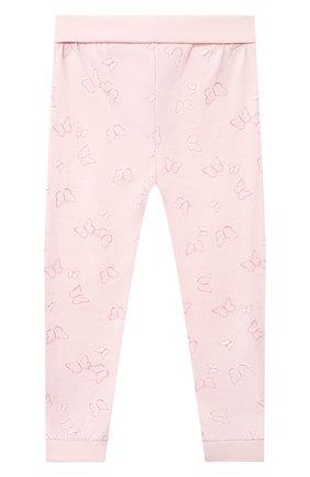 Детская хлопковая пижама SANETTA светло-розового цвета, арт. 221615 | Фото 6