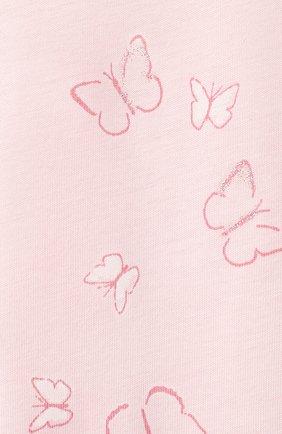 Детская хлопковая пижама SANETTA светло-розового цвета, арт. 221615 | Фото 7