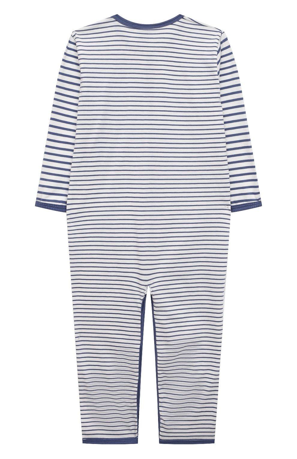 Детский хлопковый комбинезон SANETTA синего цвета, арт. 221593 | Фото 2