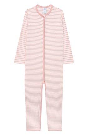 Детский хлопковый комбинезон SANETTA светло-розового цвета, арт. 221595 | Фото 1