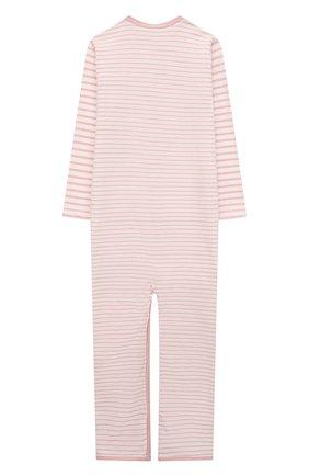 Детский хлопковый комбинезон SANETTA светло-розового цвета, арт. 221595 | Фото 2