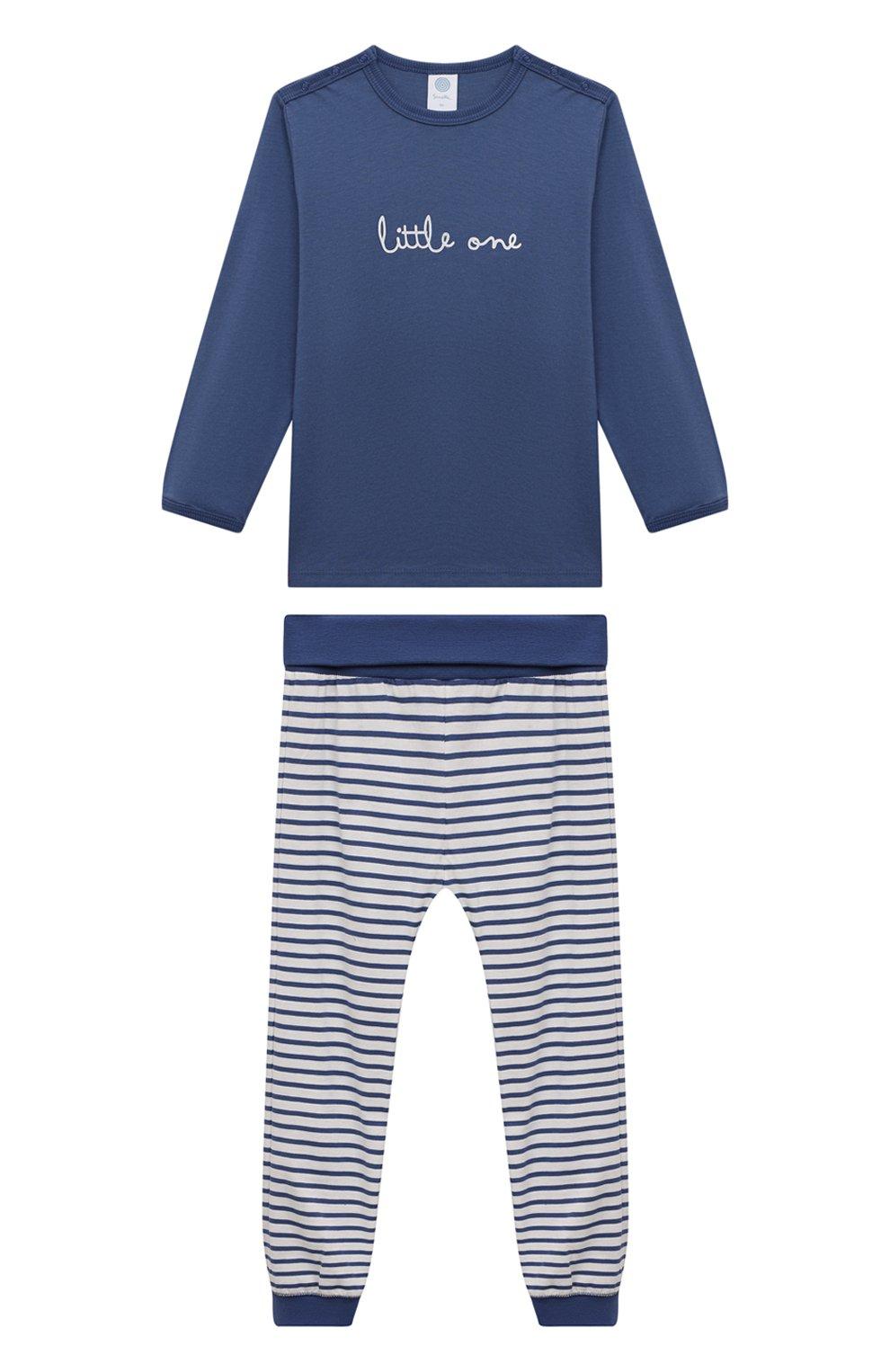 Женская хлопковая пижама SANETTA синего цвета, арт. 221591 | Фото 1