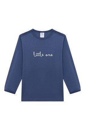 Женская хлопковая пижама SANETTA синего цвета, арт. 221591 | Фото 2