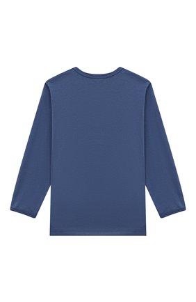 Женская хлопковая пижама SANETTA синего цвета, арт. 221591 | Фото 3