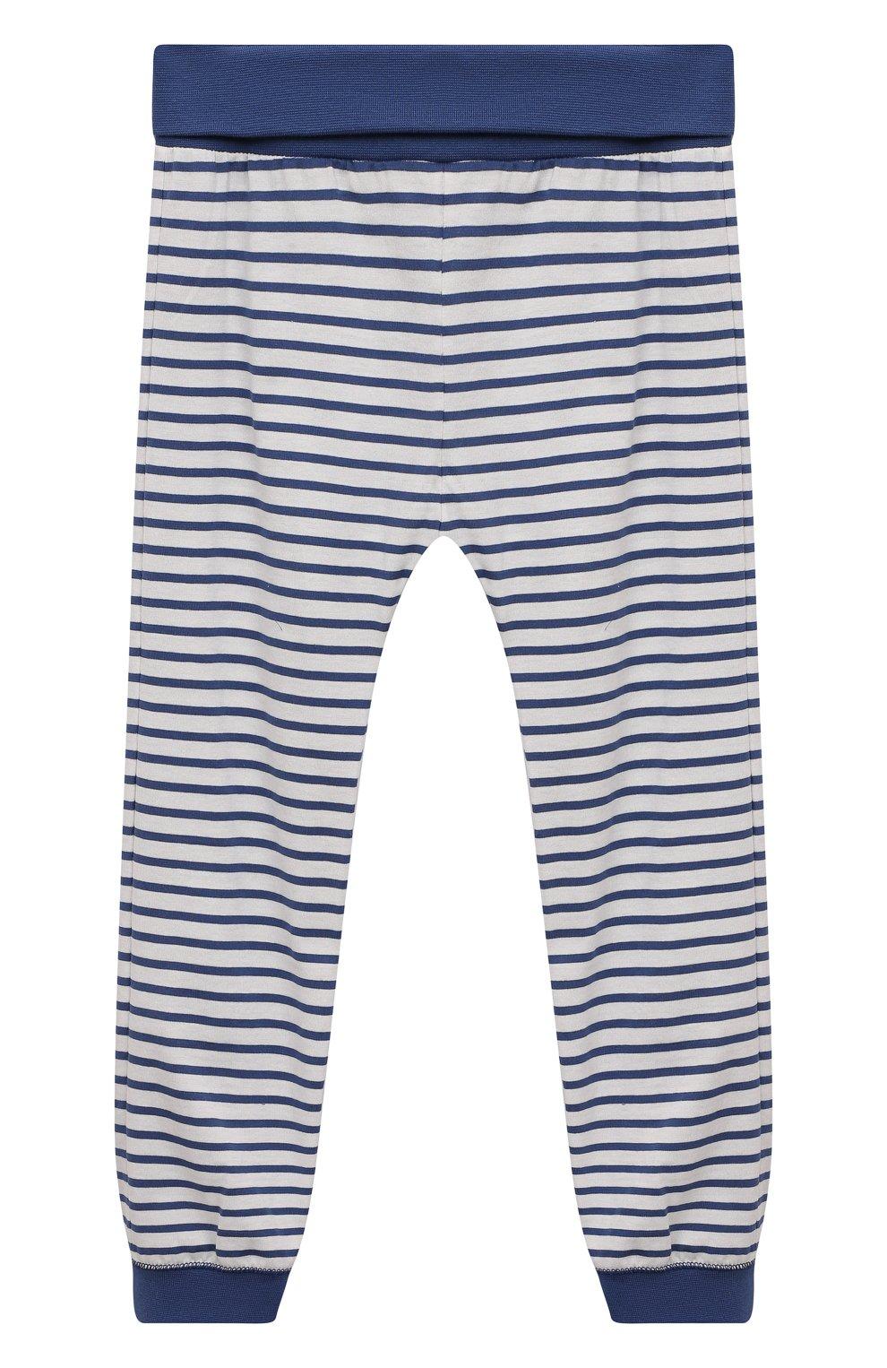 Женская хлопковая пижама SANETTA синего цвета, арт. 221591 | Фото 4