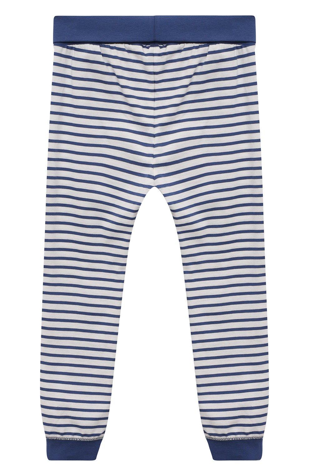 Женская хлопковая пижама SANETTA синего цвета, арт. 221591 | Фото 5