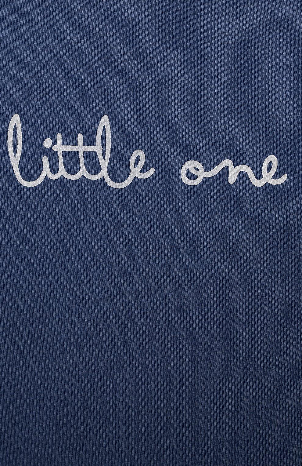 Женская хлопковая пижама SANETTA синего цвета, арт. 221591 | Фото 6