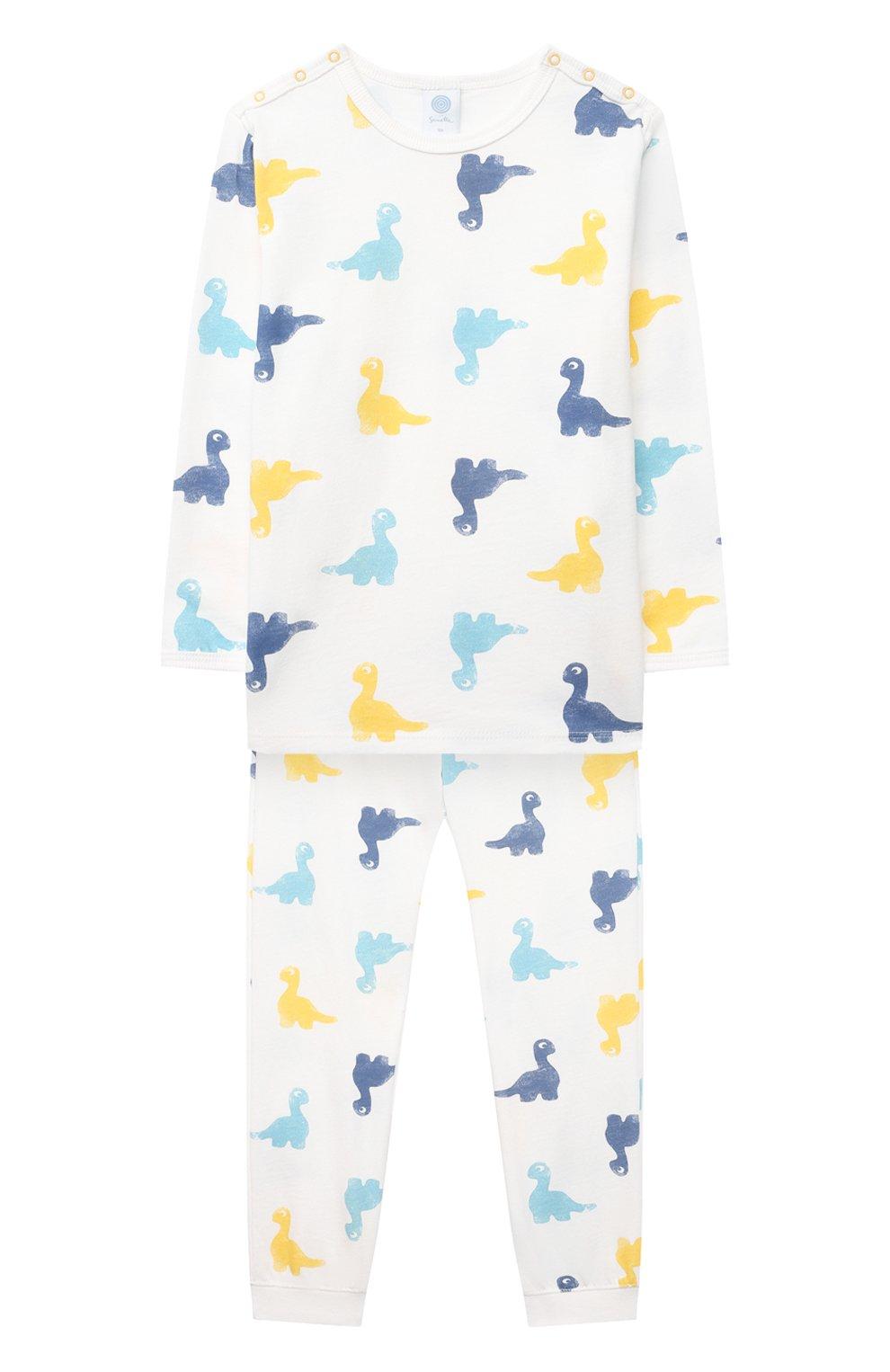 Женская хлопковая пижама SANETTA белого цвета, арт. 221602 | Фото 1