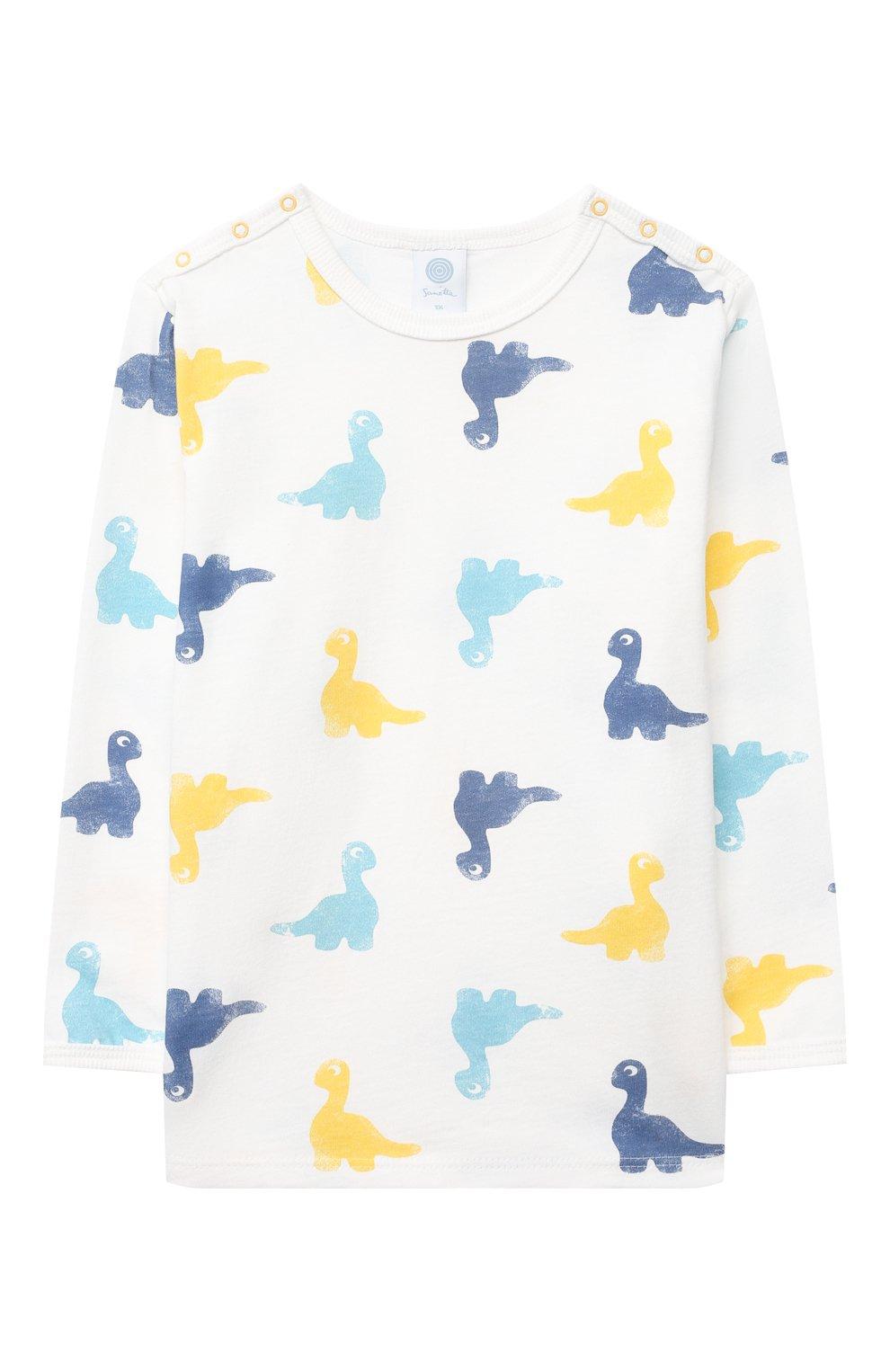 Женская хлопковая пижама SANETTA белого цвета, арт. 221602 | Фото 2