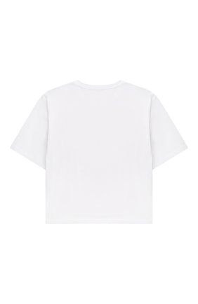 Детская хлопковая футболка EMILIO PUCCI белого цвета, арт. 9O8161 | Фото 2