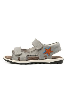 Детские кожаные сандалии RONDINELLA серого цвета, арт. 0767-4/1771/31-33 | Фото 2