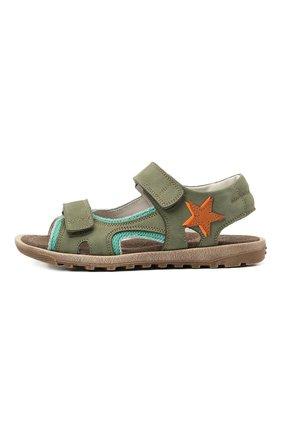 Детские кожаные сандалии RONDINELLA зеленого цвета, арт. 0767-4/5757/31-33 | Фото 2