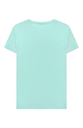 Детский хлопковая футболка IL GUFO бирюзового цвета, арт. P21TS271M0014/5A-8A | Фото 2