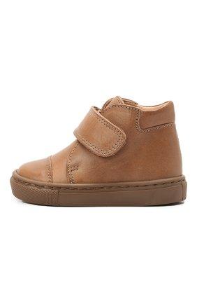 Детские кожаные ботинки PETIT NORD бежевого цвета, арт. 2530/19-23 | Фото 2