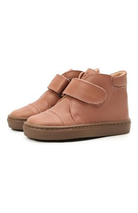 Детские кожаные ботинки PETIT NORD розового цвета, арт. 2530/24-32 | Фото 1