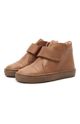 Детские кожаные ботинки PETIT NORD бежевого цвета, арт. 2530/24-32 | Фото 1