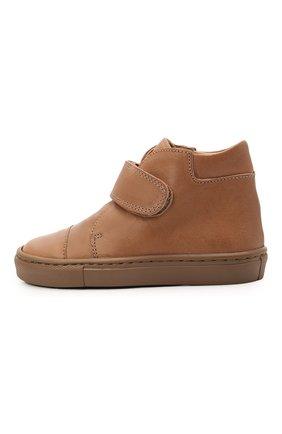 Детские кожаные ботинки PETIT NORD бежевого цвета, арт. 2530/24-32 | Фото 2