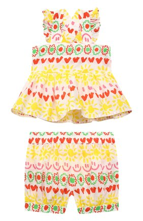 Детский комплект из топа и шорт STELLA MCCARTNEY разноцветного цвета, арт. 602573/SQK87/9M | Фото 1
