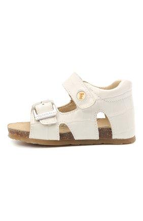 Детские кожаные босоножки FALCOTTO белого цвета, арт. 0011500737/34 | Фото 2