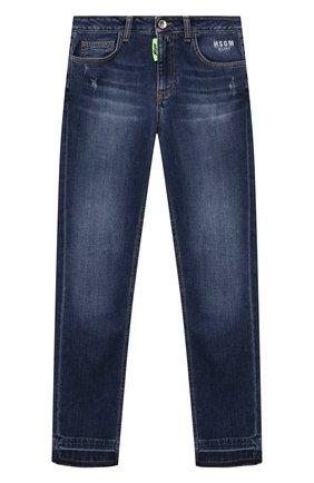 Детские джинсы MSGM KIDS синего цвета, арт. MS027621   Фото 1