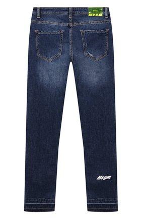 Детские джинсы MSGM KIDS синего цвета, арт. MS027621   Фото 2
