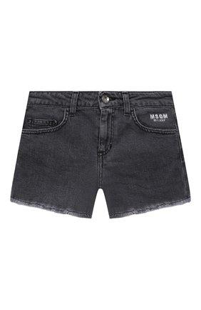 Детские джинсовые шорты MSGM KIDS темно-серого цвета, арт. MS026813 | Фото 1