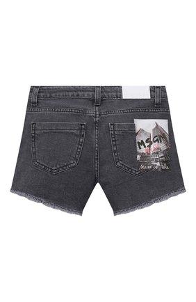 Детские джинсовые шорты MSGM KIDS темно-серого цвета, арт. MS026813 | Фото 2