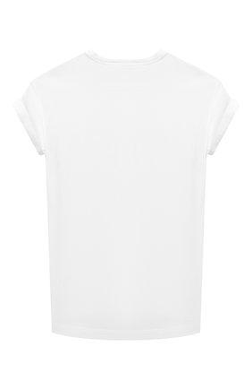 Детская хлопковая футболка BRUNELLO CUCINELLI белого цвета, арт. B0A45T021C | Фото 2