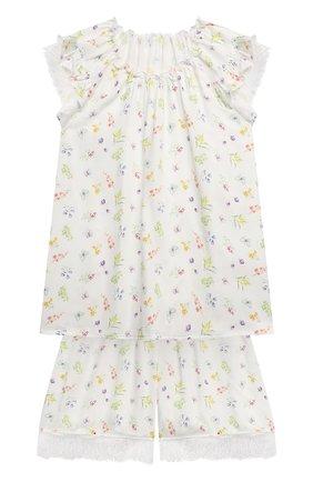 Детская пижама AMIKI CHILDREN белого цвета, арт. ADELIA | Фото 1