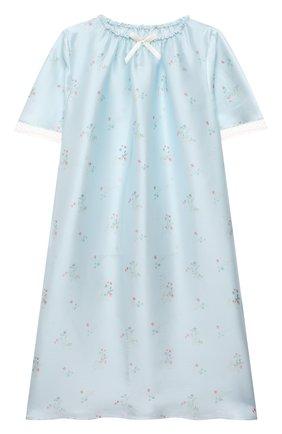 Детская шелковая сорочка AMIKI CHILDREN голубого цвета, арт. ANT0NIA | Фото 1