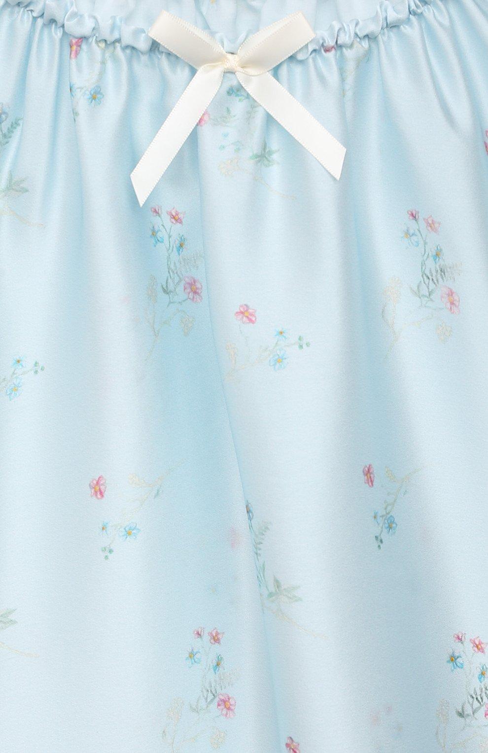 Детская шелковая сорочка AMIKI CHILDREN голубого цвета, арт. ANT0NIA   Фото 3