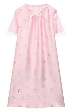 Детская шелковая сорочка AMIKI CHILDREN розового цвета, арт. ANT0NIA | Фото 1