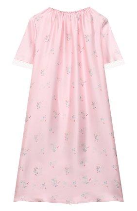 Детская шелковая сорочка AMIKI CHILDREN розового цвета, арт. ANT0NIA | Фото 2