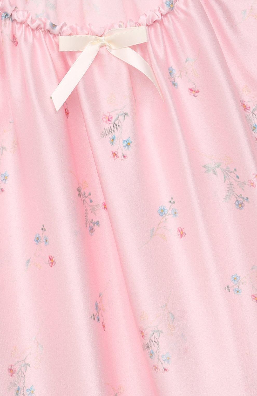 Детская шелковая сорочка AMIKI CHILDREN розового цвета, арт. ANT0NIA   Фото 3