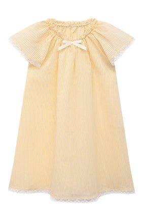 Детская пижама из хлопка и шелка AMIKI CHILDREN желтого цвета, арт. CARITA | Фото 2