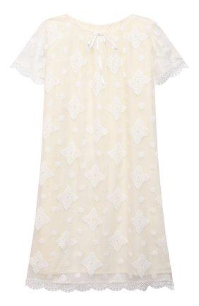 Детская шелковая сорочка AMIKI CHILDREN белого цвета, арт. MARGARET | Фото 1