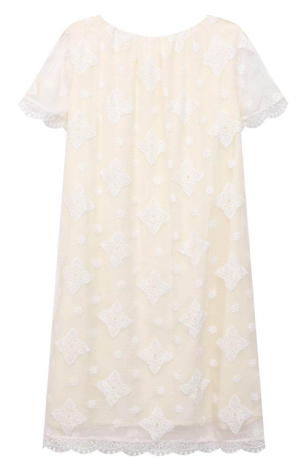 Детская шелковая сорочка AMIKI CHILDREN белого цвета, арт. MARGARET | Фото 2