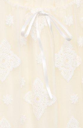 Детская шелковая сорочка AMIKI CHILDREN белого цвета, арт. MARGARET | Фото 3