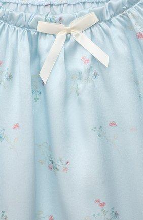 Детская шелковая пижама AMIKI CHILDREN голубого цвета, арт. P0LINA | Фото 6