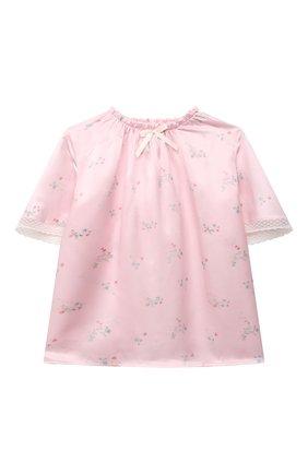 Детская шелковая пижама AMIKI CHILDREN розового цвета, арт. P0LINA | Фото 2