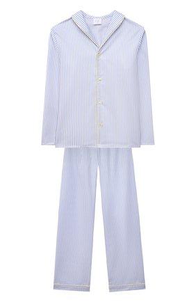 Женская хлопковая пижама AMIKI CHILDREN голубого цвета, арт. SAM | Фото 1