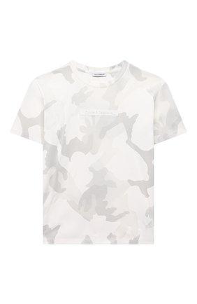 Детская хлопковая футболка DOLCE & GABBANA светло-серого цвета, арт. L4JT9A/G7YIS/2-6 | Фото 1