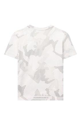 Детская хлопковая футболка DOLCE & GABBANA светло-серого цвета, арт. L4JT9A/G7YIS/2-6 | Фото 2
