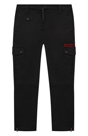 Детские хлопковые брюки DOLCE & GABBANA черного цвета, арт. L43P26/G7YGG/8-14   Фото 1